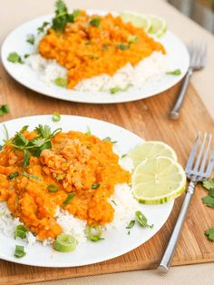 A super healthy and delicious creamy and smooth vegan red lentil curry recipe with a hint of Thai spices and flavors. Gluten-Free too. Perfect fora meatless meal.