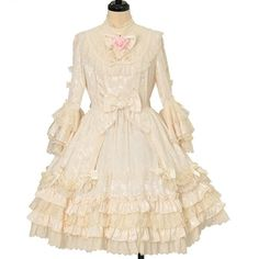 Angelic Pretty, Two Hands, Gothic Lolita, One Piece, Beige, Clothes, Shopping, Dresses, Lady