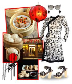 """""""""""D"""" is for Dim Sum"""" by krusie ❤ liked on Polyvore featuring GALA, Vivienne Tam, Reeds Jewelers, Oscar de la Renta and Gucci"""