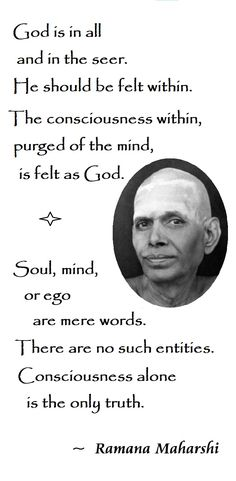 "Quote from Ramana Maharshi, from the book ""Talks with Ramana Maharshi"", page Spiritual Awareness, Spiritual Growth, Spiritual Quotes, Awakening Quotes, Spiritual Awakening, Meaningful Quotes, Inspirational Quotes, Meditation Meaning, Advaita Vedanta"