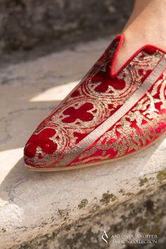 038c774e1c4 Designed by Antonia Sautter Venezia Handprinted fabrics by Antonia Sautter  Venezia Shoes design