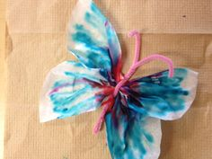 Butterfly: Coffee Filter Craft