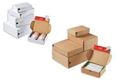 #Modulboxen 1– 4 CP 080 in Weiß und Braun von #ColomPac®. • Geeignet für Ersatz- und Bauteile in vielen Größen. • #Dinkhauser Kartonagen Vertriebs GmbH, #Selbstklebeverschluss, #Aufreißfaden, #Versandverpackung, #Paket, #Wellpappe, #Maxibrief, #Kleinteile, #Ersatzteile, #Modeversandversand, #Kosmetik