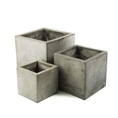 My Spirit Garden Square 3 Piece Composite Pot Planter Set