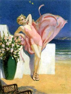 "Calendar, ""Beauty By The Sea"", 1931, Henry Clive"