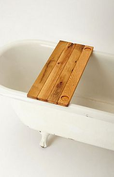 """Reclaimed Wood Tub Caddy ~Surface: 11"""" x 29"""" Fits most standard tubs with an opening of 22"""""""