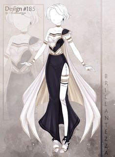 Clothes Design Drawing, Fashion Design Drawings, Fashion Sketches, Drawing Fashion, Clothing Sketches, Dress Sketches, Anime Outfits, Vestidos Anime, Fashion Art