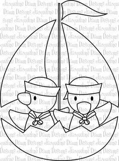Digital Stamp - Ducklings Set Sail on Etsy, $2.00