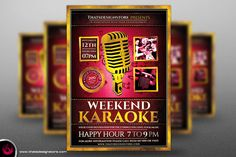 Karaoke Flyer Template V2 by Thats Design Studio on Creative Market