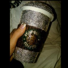 Bedazzled Starbucks coffee cup. Yes please.
