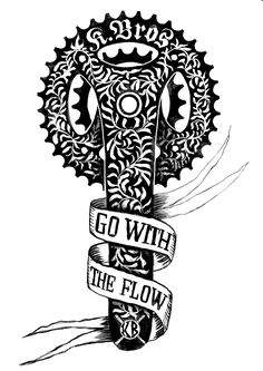 Tattoo Design we did for the Kowalski Bros - MTB track builders from Down Under.