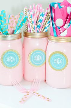 Monogram Birthday Slumber Party {Party on a Dime #6