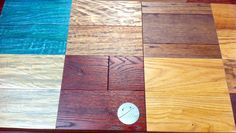 New product line from Greyne. Great custom stains on prefinished hardwood! Colors are sooo rich and deep! Make your wood floors match your other woods (like cabinets and trim) with a prefinished flooring product!  Solids & engineered products.  An interior designer's dream!