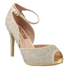 Princess Gold Party Sandals