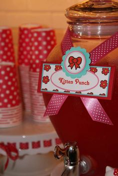 Hello Kitty Red, Pink & Aqua Birthday Party Ideas | Photo 1 of 32 | Catch My Party