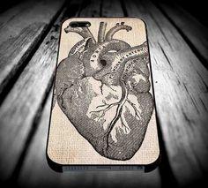 Antique Heart Anatomyfor iPhone 4/4s/5/5s/5c/6/6 Plus Case, Samsung Galaxy S3/S4/S5/Note 3/4 Case, iPod 4/5 Case, HtC One M7 M8 and Nexus Case ***