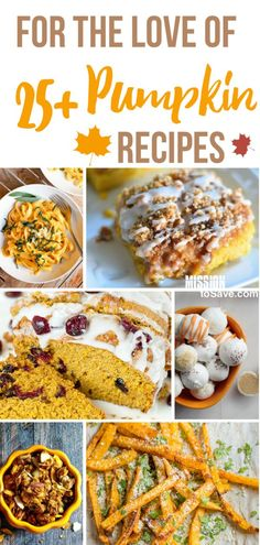 Over 25 Delicious Pumpkin Recipes Expand your options past pumpkin pie or the ever popular pumpkin spice latte. Check out this list of over 25 mouthwatering, deliciously pumpkin recipes. Thanksgiving Recipes, Fall Recipes, Halloween Desserts, Halloween Ideas, Budget Meals, Budget Recipes, Pumpkin Cookies, Canned Pumpkin, Pumpkin Spice Latte
