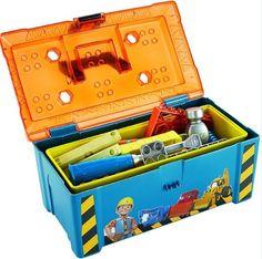 Toy Box Kit And Tools Storage For Boys kids Child Toys Builder Bob's Playset Boy #BobtheBuilder