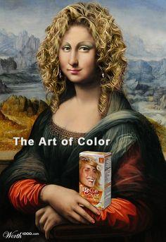 La Mona Lisa anunciando tintes