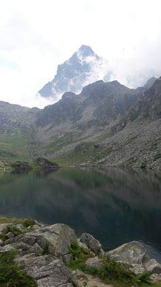 Lago Fiorenza e  il Monviso
