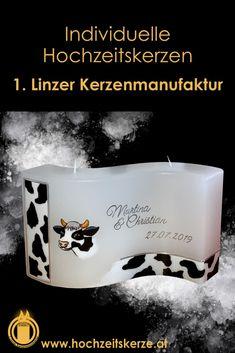 Ich fertige einzigartige Hochzeitskerzen nach individuellen Wünschen an. Ein Unikat für jedes Brautpaar. 100%ige Handarbeit aus Oberösterreich. Sie können nicht nur die Verzierung, sondern auch die Form der Kerze selbst bestimmen, da wir auch die Rohlinge nach Kundenwunsch selbst herstellen. Kerze mit Holz, Mantelkerze, Kerze mit Mineralien, Achat, Meteorit, Hochzeit selbstgemacht Standesamt Kirche Hochzeitsbrauch Geschenk Dekoration Kerze deko Trauung Trauspruch Kerzenshop Movie Posters, Form, Candle Decorations, Embellishments, Dekoration, Wave, Cow, Newlyweds, Film Poster
