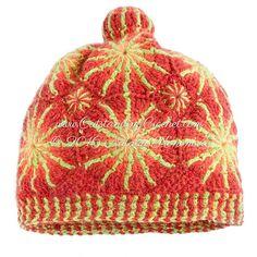 New crochet pattern in my shop - Raspberry Crochet Beanie Hat with Pom-pom.