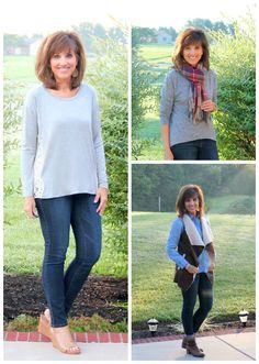 Casual style for fall for women over 40.