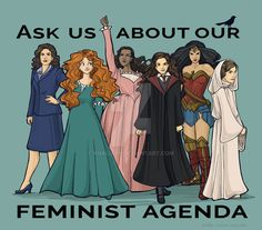 Feminist Agenda by khallion.deviantart.com on @DeviantArt