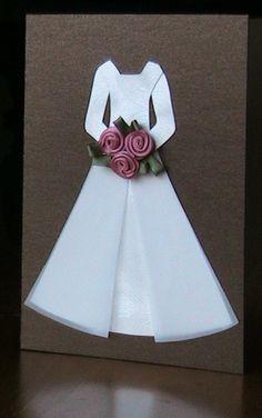 Little wedding dress Card - DIY