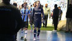 Maxi Rodríguez Marcelo Grohe Grêmio (Foto: Eduardo Moura/GloboEsporte.com)