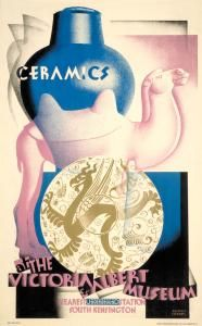 """Ceramics at the Victoria & Albert Museum"" - London Underground poster by Austin Cooper Posters Uk, Train Posters, London Tours, London Museums, London Underground, Art Nouveau, Kensington, Museum Poster, London Transport Museum"