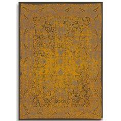 colorierter vintage teppiche gold gelb orange. Black Bedroom Furniture Sets. Home Design Ideas