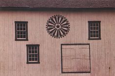 Wheel of Fortune (near Boyertown, Berks County) This wheel has thirty-two spokes, the most common number. Most of the wheels have a central circle that, ...