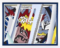 ROY LICHTENSTEIN - REFLECTIONS ON CRASH, FROM THE REFLECTIONS SERIES - KUNZT.GALLERY http://www.widewalls.ch/artwork/roy-lichtenstein/reflections-on-crash-from-the-reflections-series/ #Print