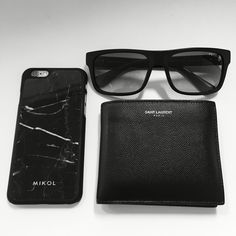 Prada Sunglasses, Saint Laurent Wallet, Mikol Marble iPhone Case, Apple iPhone 6