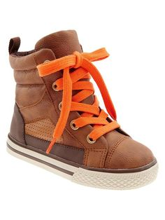 Little man high top sneakers // (is it bad that i'd put my little GIRL in these, too?)