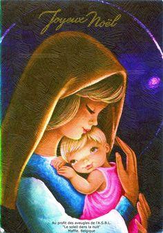 Joyeux Noël - Portrait de la Madone tenant l'Enfant Jésus sur sa poitrine (from http://mercipourlacarte.com/picture?/1336/)