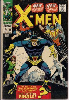 MARVEL XMEN #39 Mutants Silver Age ComicsNew Costumes Jack King Kirby & Stan Lee 1967 Roy Thomas VG