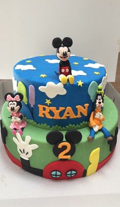 Mickey mouse club cake made by Angelique Bond