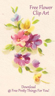 Images: Free Flower Bunch Clip Art - Free Pretty Things For You
