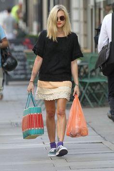 Fearne Cotton Photos Photos: Fearne Cotton in London Fashion Socks, Skirt Fashion, Celebrity Style Inspiration, Celeb Style, Cotton Pictures, Fearne Cotton, Dream Hair, Cotton Style, Soft Gamine