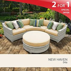 New Haven 4 Piece Outdoor Wicker Patio Furniture Set 04a Check This Out By