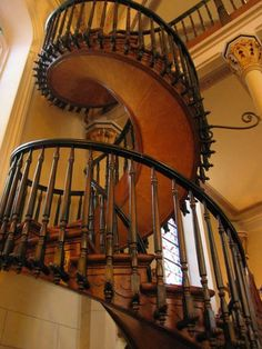 The Loretto Chapel is a chapel in Santa Fe, New Mexico, known for its unusual spiral staircase that is an exceptional work of carpentry.