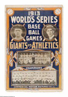 1913 World Series Poster