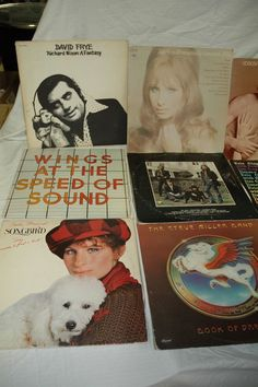 Collection of Just Over 100 Records, Steve Miller Band, Barbra Streisand, Neil Young, Rod Stewart, Bob Segar, Supertramp.  Estate Contents Auction Ending 5/14 Items include children's Thomasville bedroom set, artwork, farm table, rugs, jewelry case, glassware, and much more!