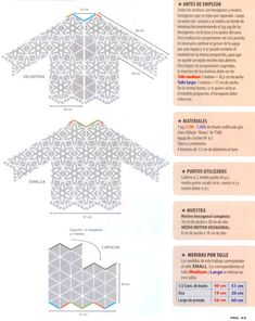Chaqueta con Capucha Patron Crochet Diagram, Rubrics, Lana, Kimono, Wedding Dresses, Blog, Tops, Women, Gilets