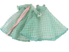 Hey, I found this really awesome Etsy listing at https://www.etsy.com/listing/531378959/vintage-1960s-green-gingham-peignoir-set