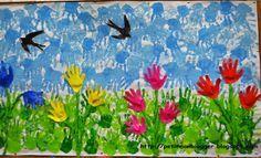 DECORACIÓ DE PRIMAVERA, estampació de mans. Spring Poem, Spring Art, Diy And Crafts, Crafts For Kids, Spring Animals, Spring School, Spring Weather, Hand Art, Art Activities