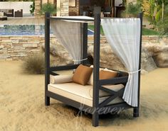 Welcome to our best selling outdoor wicker daybed! The Hampton Outdoor Canopy Day Bed by Forever Patio (FP-HAM-CPL) will enlighten any outdoor space with its classic yet modern style and lasting appeal. Daybed Canopy, Patio Daybed, Outdoor Daybed, Outdoor Lounge, Outdoor Spaces, Oversized Throw Pillows, Sectional Furniture, Wicker Furniture, Contemporary Patio