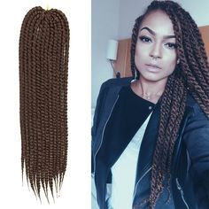 Mambo Twist Crochet Braid Hair 22 120g/pack Synthetic Crochet Braid...